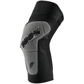 100% Ridecamp Protectores de rodilla, black/grey